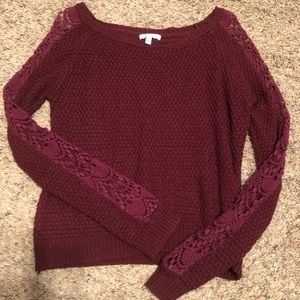 Delias maroon sweater